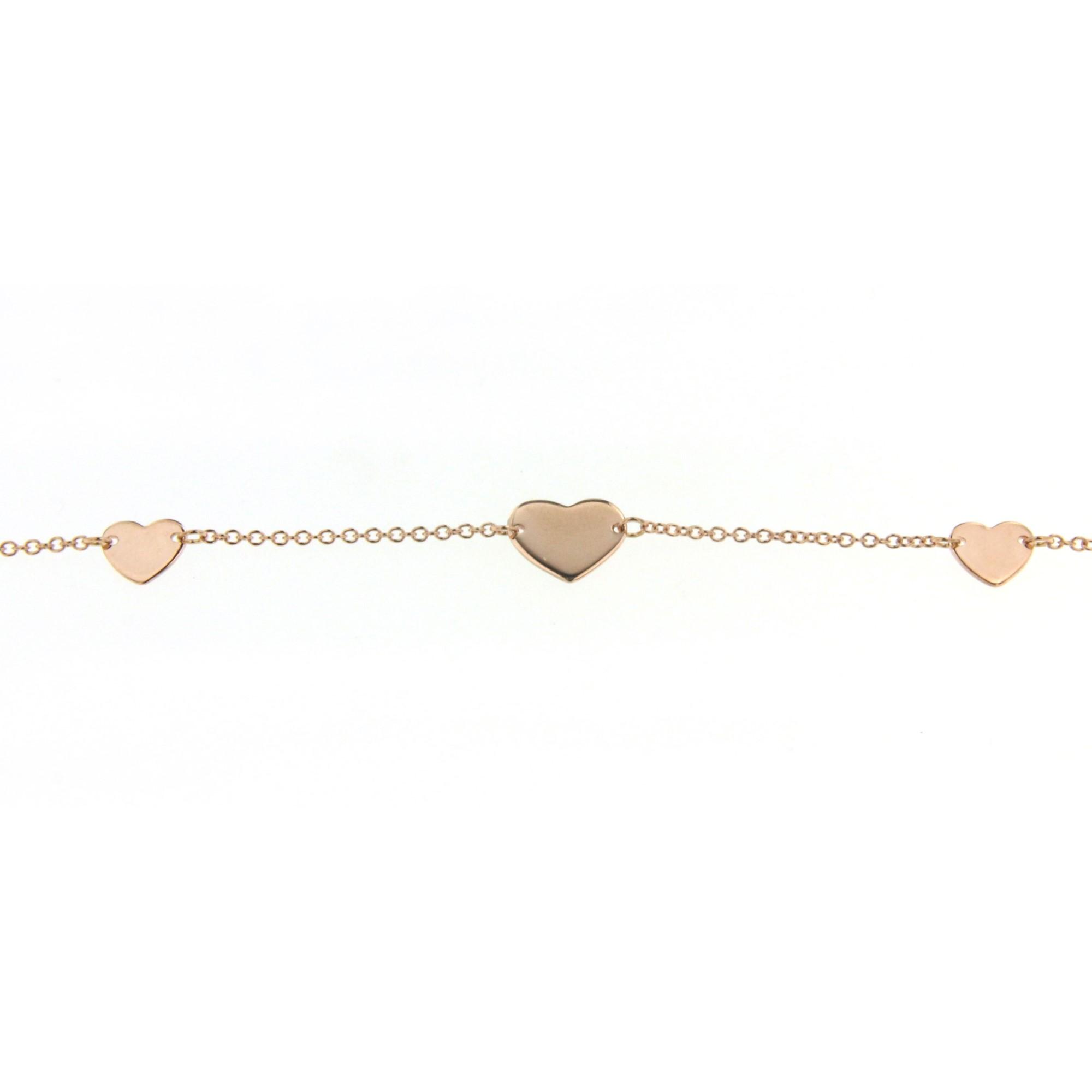 Bracciale cuori oro rosa Marco Gerbella CL-BC-51-XR